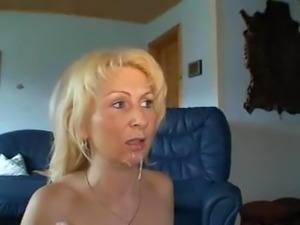 Cleaner Milf In Stockings Gets A Good Load