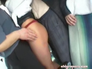 Brunette groped on bus and fuck ... free