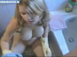Busty Amateur Bathroom Fuck