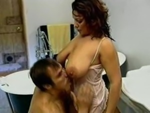 Busty Mom in Bathroom having sex with her Son