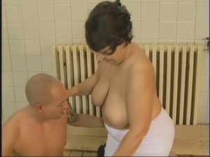 GRANNY GETS A GOOD FUCKING FROM YOUNG GUY