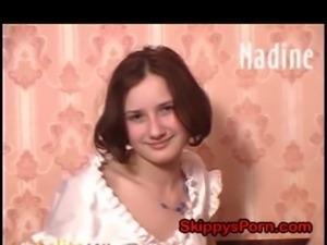 Innocent Nadine likes to fuck free