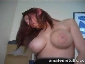 Busty Redhead Beauty Rides A Hard Dick