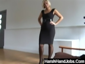 Anna Joy giving a harsh handjob free