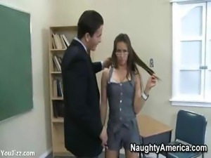 Rachel Roxxx Working The Profs Cock - Part 1