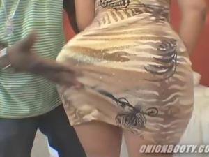 big booty girl fucked hard by black dude.