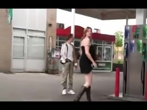 Gas Station Extreme Pregnant Threesome PART 1