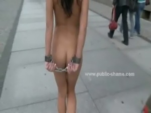 Slut humiliated in public sex video free