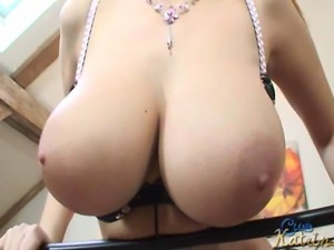 Big breasted Czech blonde queen Katrin Kozy in nice scene directly from her...