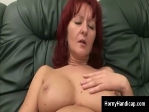 Mature redhead goes naughty mas ... free