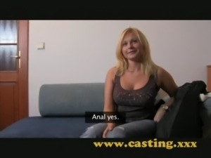 Casting - Chubby blonde takes i ... free
