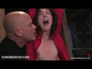 Horny bondage girl gives blowjo ... free