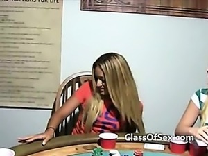 Drunk teen strip poker game captured on camera