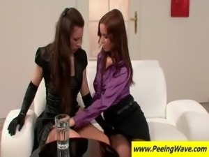 Lesbians licking twats on the couch free