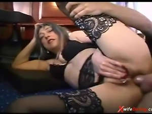 Kinky housewife fucked hard