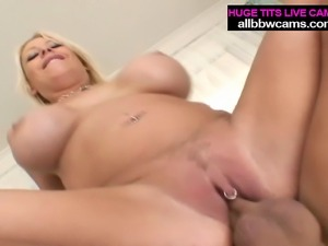 Tattood Blondy eats cum after fucking her pussy off pt 2