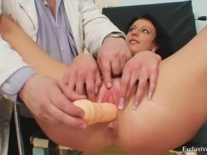 Gabina humiliated during kinky gyno speculum exam