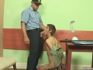 Drinking cum at police station
