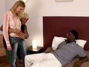 Teen Blond Hairy Bush Beauty Fucked  Black Cocks.