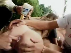 Polish Girl Gangbang