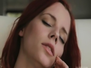 Redhead enjoy new dildo on the  ... free