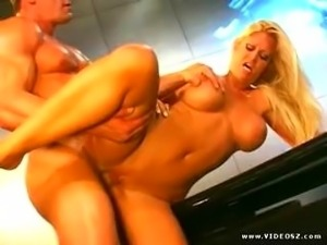 Blonde MILF takes it in all her holes