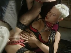 This wild slut never misses the chance to fill all her holes with hard meaty...