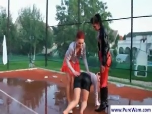 Lesbians gets dirty outdoors free