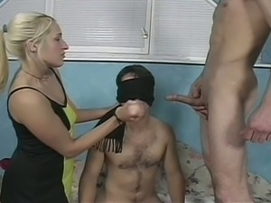 Hairy stud opens ass wide for bisexual dreams with hot blonde