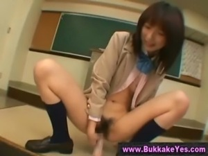 Japanese bukkake dildo and facial free