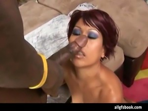 Slutty Asian amateur is craving a big black cock because she never had one in...