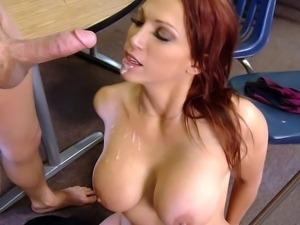 Busty redhead teacher