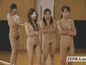 Nudist Japan athletes play bizarre game of tug of war