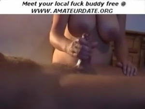 Amateur busty boobs bbw handjob ... free