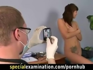 Rough gyno check for sweet brunette babe