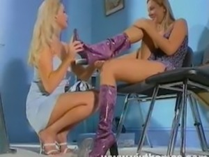 Lesbian leg sex scene