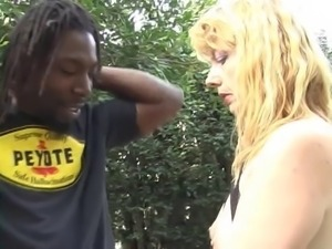 Mature blonde opts for big black cock