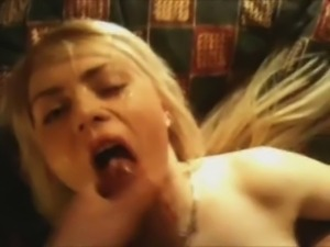 Lebanese man face fucks and cums on pretty blonde girl