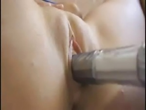 Tight pussy hardcored with dildo