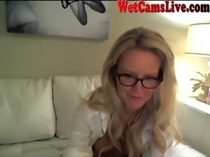 Stunning Blonde Squirts On Webcam Part 1