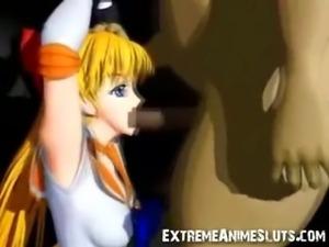 3D Sailor Venus Blowjob!