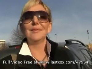 Blonde milf picked up to fuck free