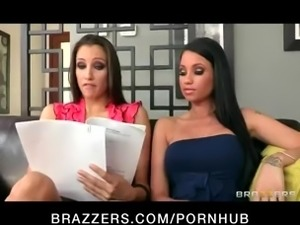 Two hot & mean brunettes initiate their blond bombshell roommate