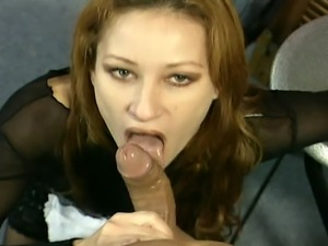 Redhead MILF slut has been very disobedient and deserves an anal punishment.