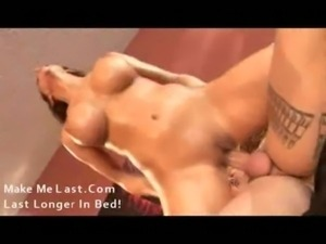 oiled her body and fucked free