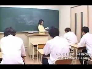 Hot Japanese teacher gangbang i ... free