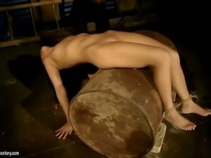 Slavegirl getting punished and anal fucked