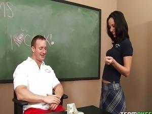 Schoolgirl Jada Stevens hardcore sex