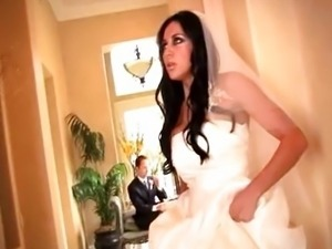 Audrey Bitoni fucks in her wedding dress