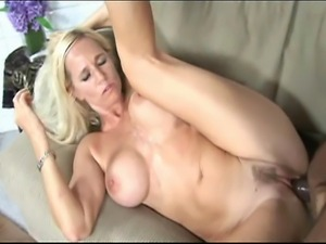 Blonde girl having interracial sex with her boyfriend